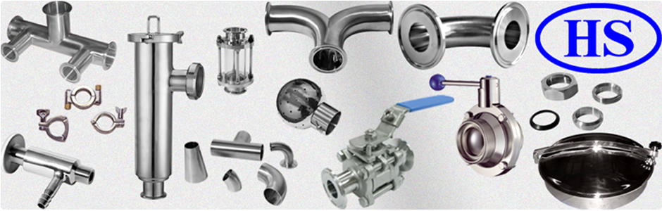 HALESON large stock of sanitary tubing, fitting, clamps, filters, man hole covers, sight glasses, tank cleaning equipment